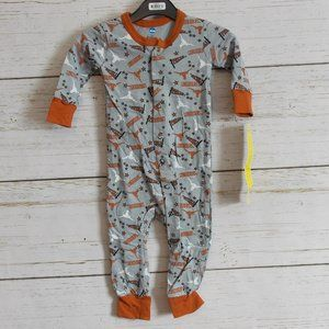 🔥10/$20 NWT Texas Longhorns One Piece Pyjama 12m